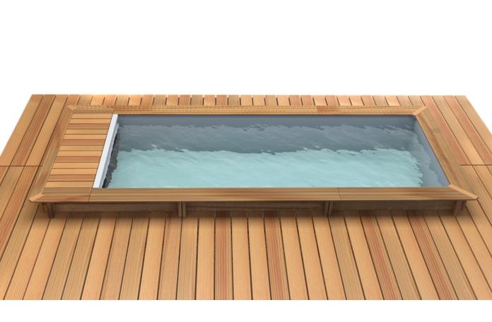 piscine bois avec couverture automatique